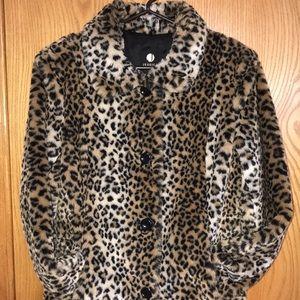 ⭐️Host Pick⭐️Cozy Plush Leopard Print Coat